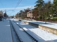 Sant Guim de Freixenet: L'estació després de la nevadeta  Daniel Espejo Fraga