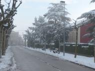Sant Guim de Freixenet: Carrer major a l'endemà de la nevadeta  Daniel Espejo Fraga