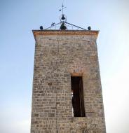 La Guàrdia Lada: Campanar església Santa Maria   Ramon Sunyer