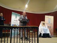 Cervera: El Paer en Cap, Ramon Royes, durant la seva intervenció  Jaume Moya