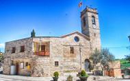 Sant Guim de la Plana: Església Santa Maria romànic (XIII) i ajuntament  Ramon Sunyer