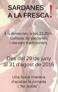 cartell Sardanes a la Fresca Calaf 2016