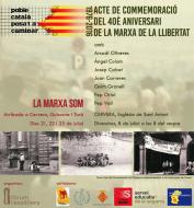 cartell Commemoració del 40è Aniversari de la Marxa de la Llibertat