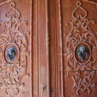Portell: detall porta  Ramon Sunyer