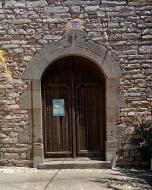 Viver de Segarra: porta de l'església  Ramon Sunyer