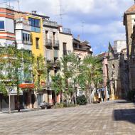 Cervera: plaça universitat  Ramon Sunyer