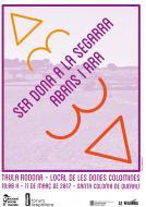 cartell Taula rodona 'Ser dona a la Segarra: abans i ara'