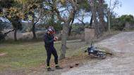 Florejacs: Jordi Padreny filmant al castell de les Sitges  Ramon Sunyer