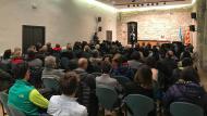 Santa Coloma de Queralt: La Sala del Castell plena de gom a gom  Xavier Sunyer