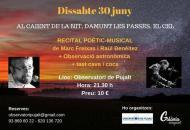 cartell Recital i observació astronòmica a Pujalt