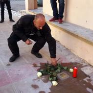 Pontils: llamborda dedicada a Josep Sendra Ferré  Jesús i Isabel @IStolpersteine