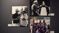 Cervera: Claudi Gómez en diferents rodatges  Ramon Sunyer