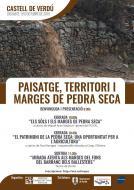 cartell Jornada ' Paisatge, Territori i Marges de pedra seca'