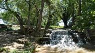 Ratera: Peixera de Ratera al riu Sió  Ramon Sunyer