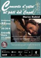 cartell Concerts d'estiu 'Marco Rubiol'