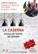 cartell Portes Obertes - escola de teatre de Cervera