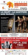 cartell Tardor de Teatre 2020 'La Mary i la Santpere amb Verkami'