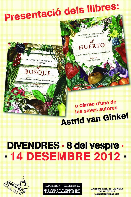 cartell presentació dels llibres EL BOSQUE I EL HUERTO