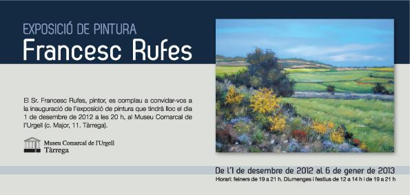 cartell Exposició pintura paisatges de l'Urgell i la Segarra