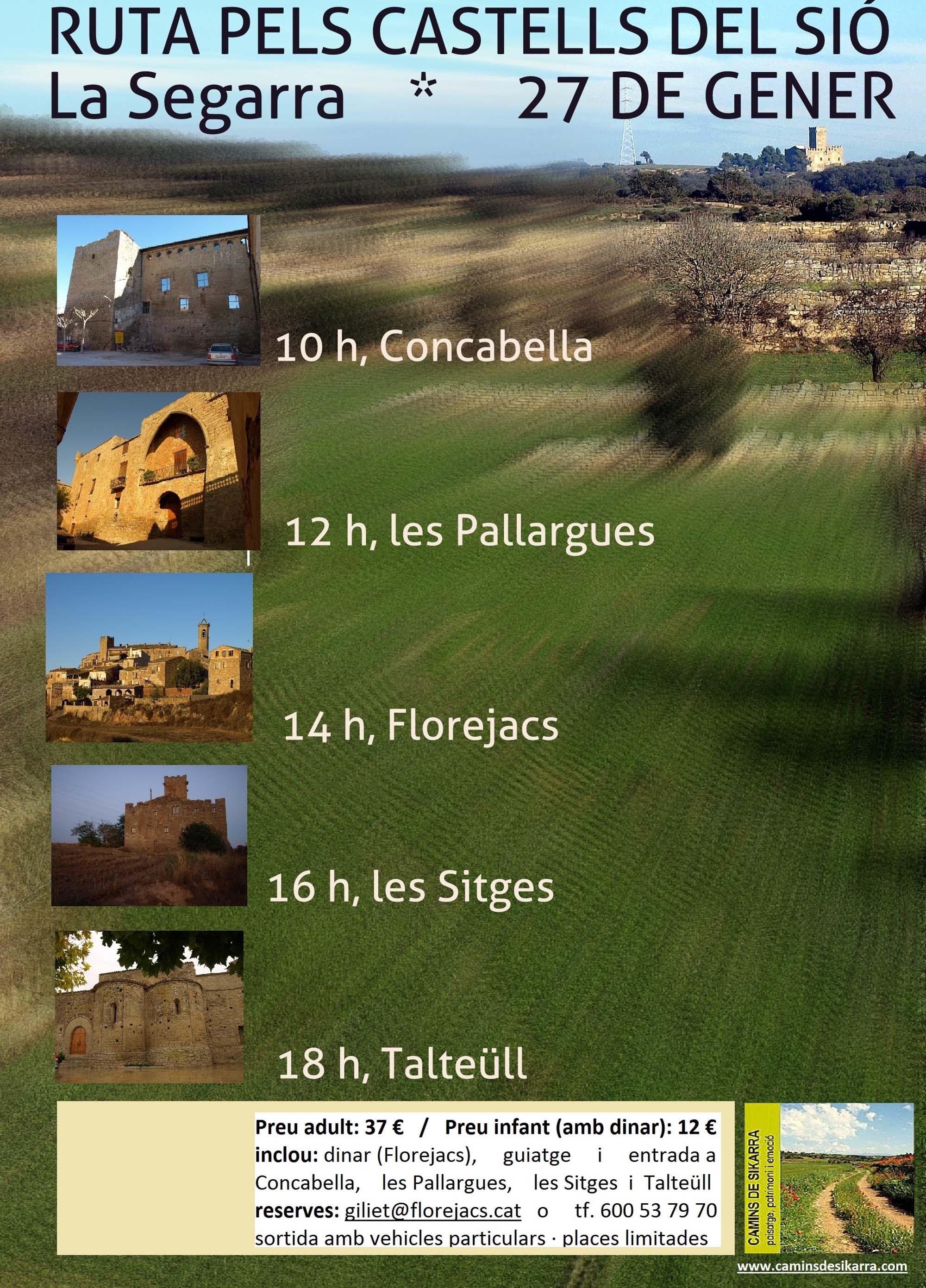 cartell Ruta guiada pels Castells del SIó