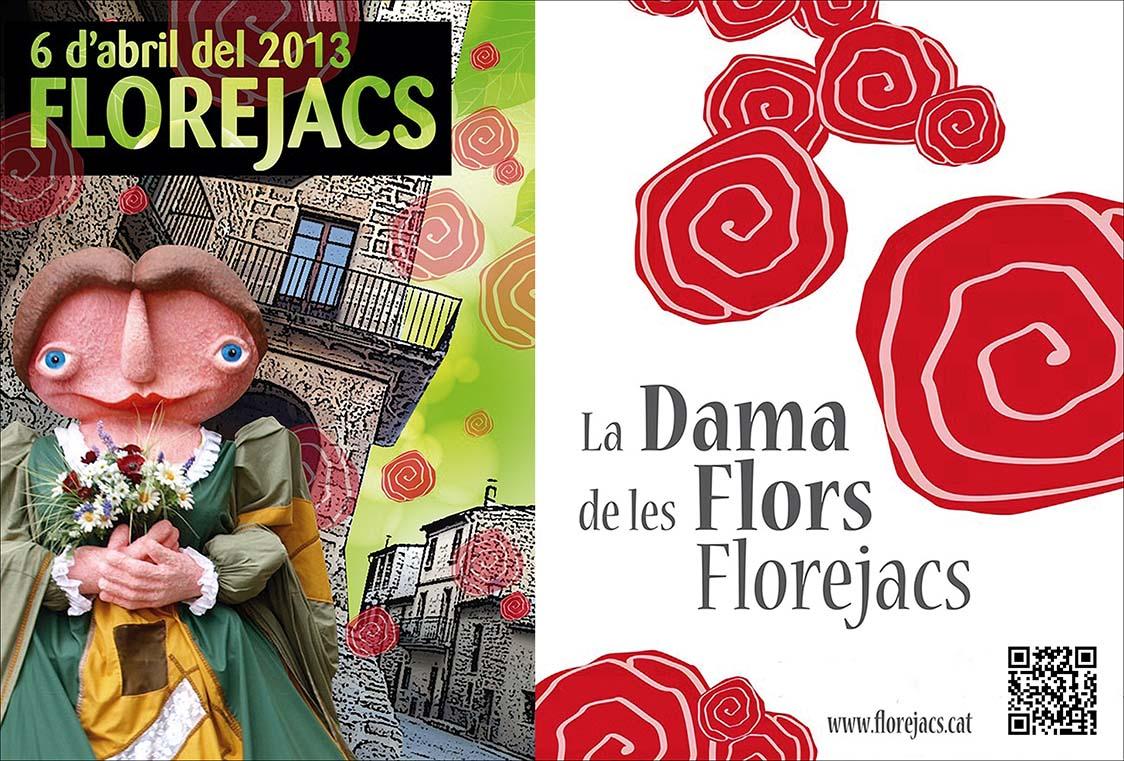 cartell Fira de la Flor de Florejacs LA DAMA DE LES FLORS