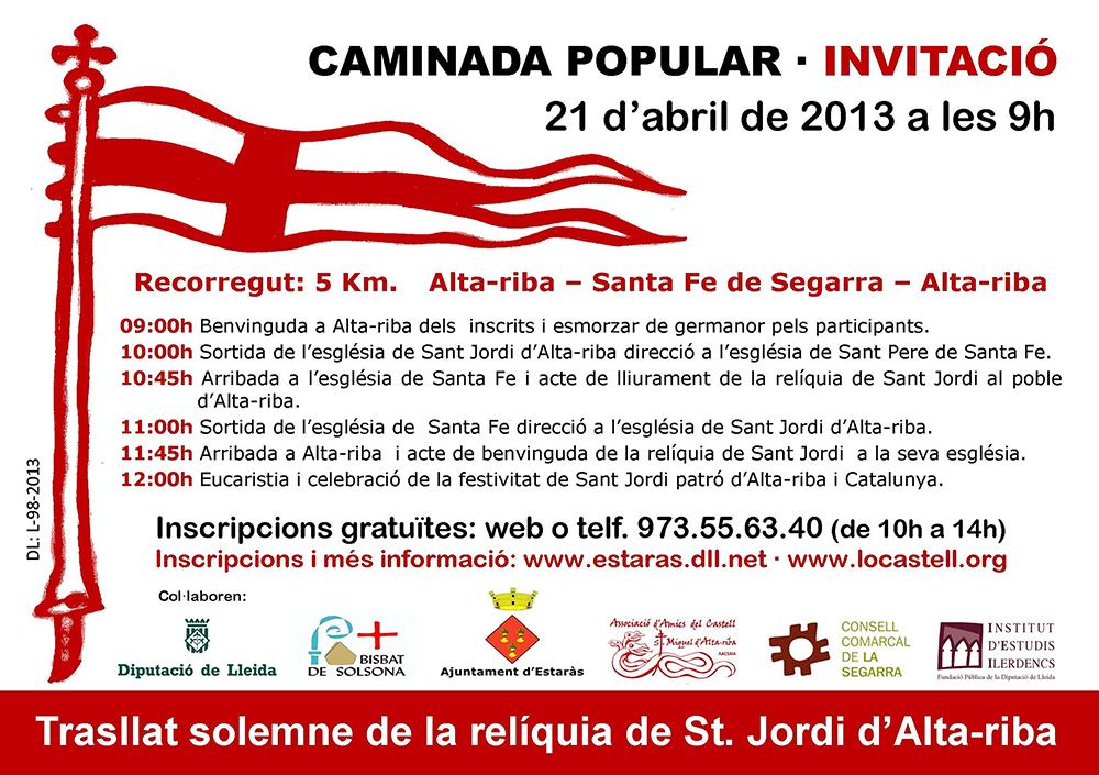 cartell Caminada popular Alta-riba - Santa Fe