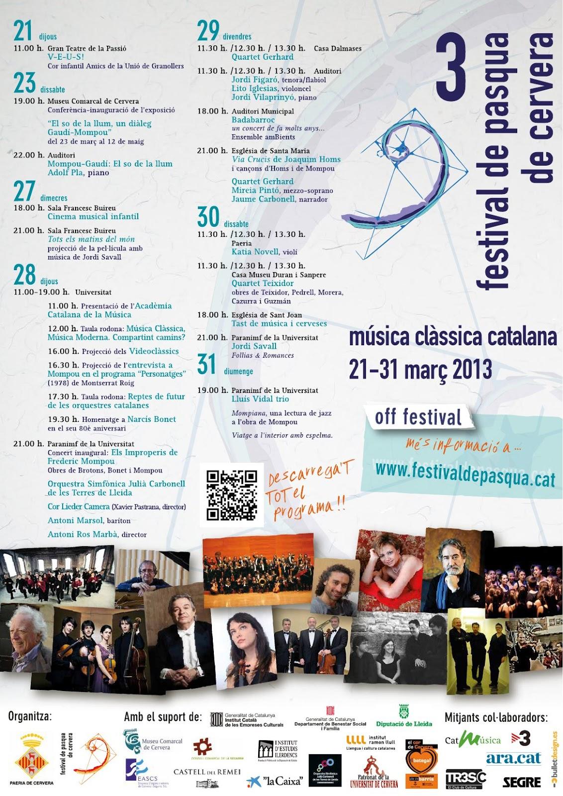 Cartell 3r Festival de Pasqua de Cervera
