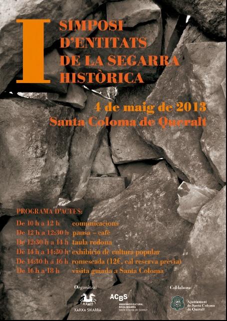 cartell I trobada d'entitats de la Segarra Històrica