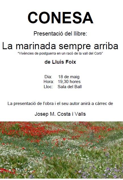cartell presentació LA MARINADA SEMPRE ARRIBA