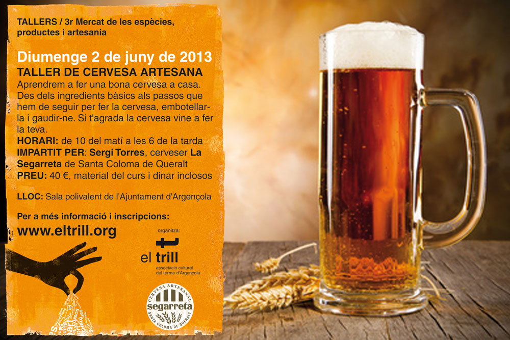cartell Taller de cervesa artesana