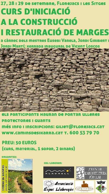 cartell Curs d'iniciació a la construcció de marges