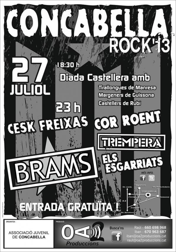 cartell Concabella Rock 2013