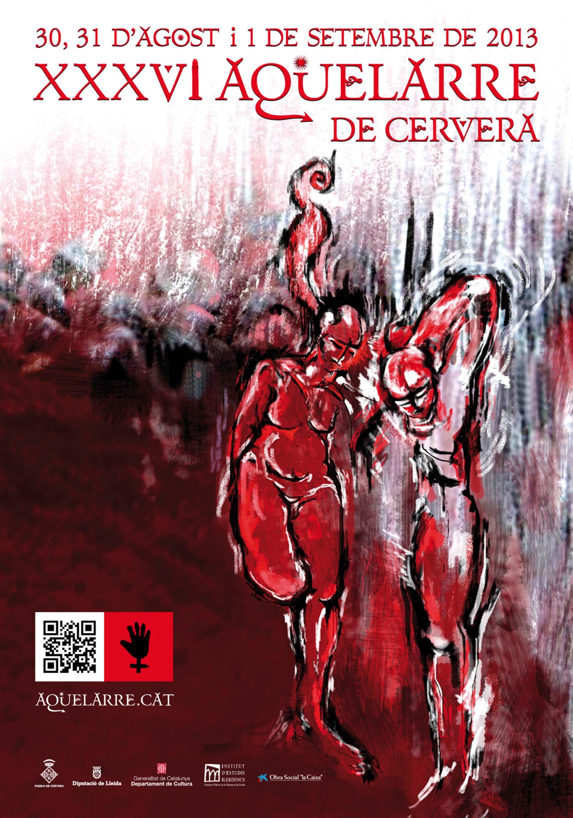cartell XXXVI Aquelarre de Cervera, reserva d'entrades de la Casa d'Estiu del Mascle Cabró
