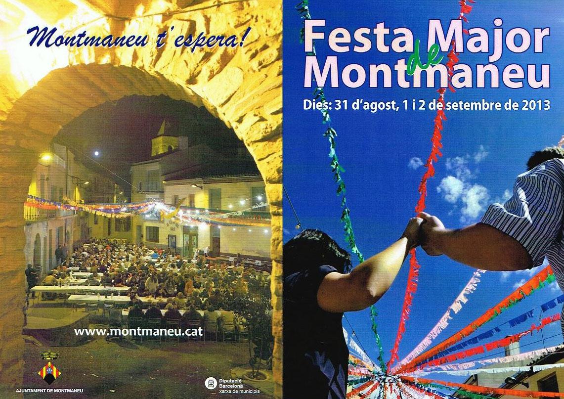 cartell Festa major Montmaneu 2013