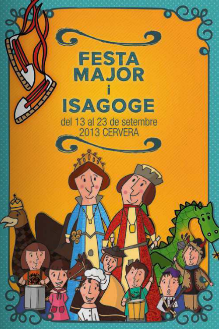 cartell 37è Isagoge i festa major cervera 2013