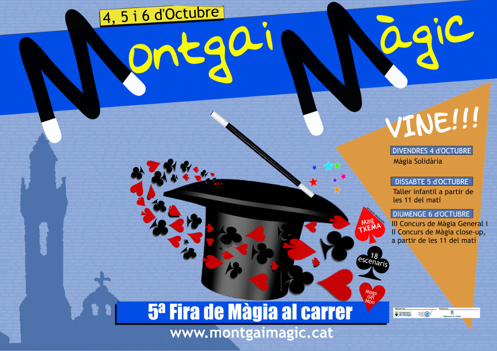 cartell V edició de la Fira de la Màgia al carrer, Montgai Màgic