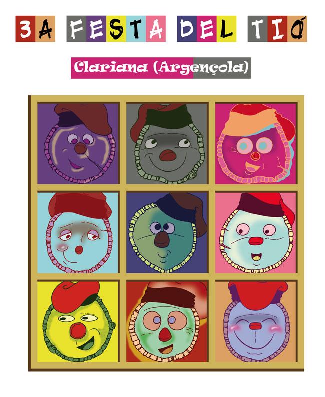 cartell 3a FESTA I MERCAT DEL TIÓ / CLARIANA (ARGENÇOLA)