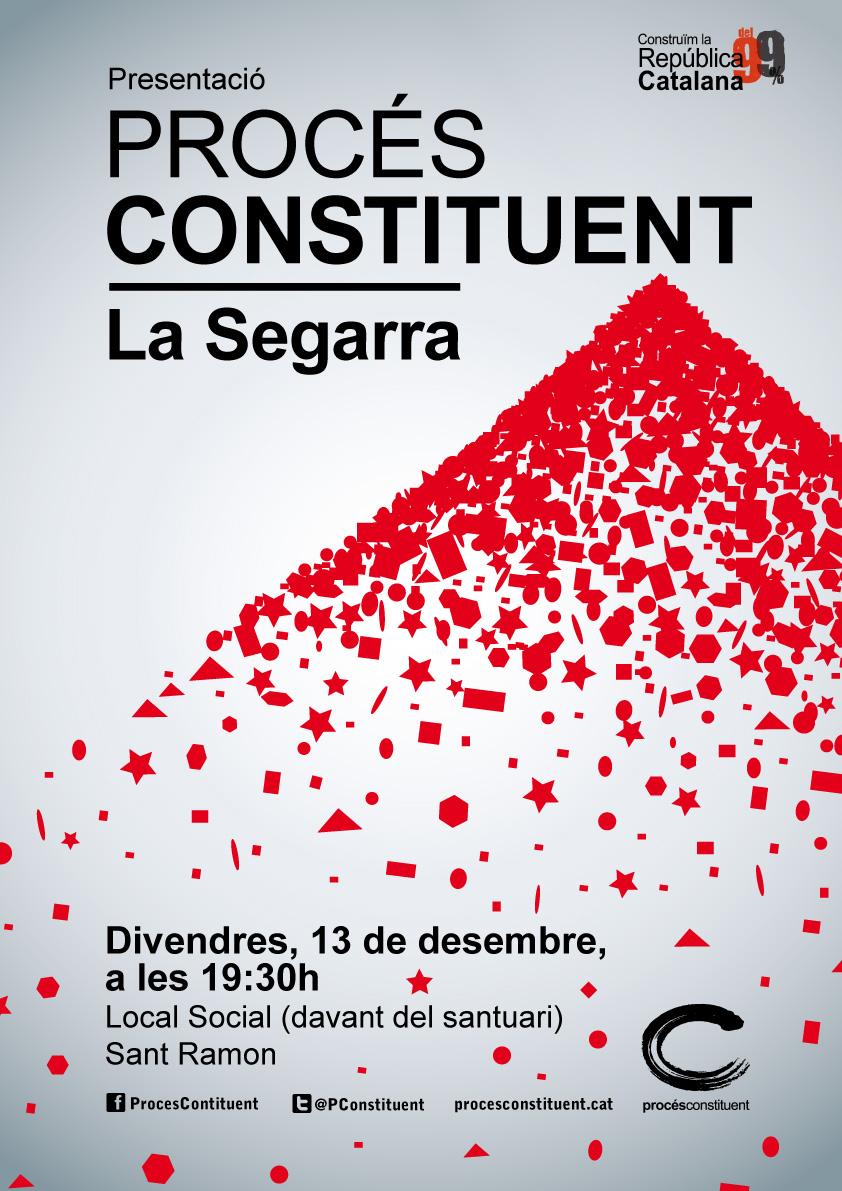 cartell VI assemblea del Procés constituent de la Segarra