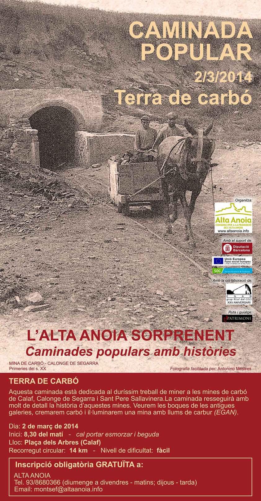 cartell Caminada popular 'Terra de carbó'