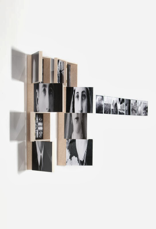 'Ramon i Angeleta' Caixa-objecte de fusta amb 9 imatges, exposició 'La Memòria representada'