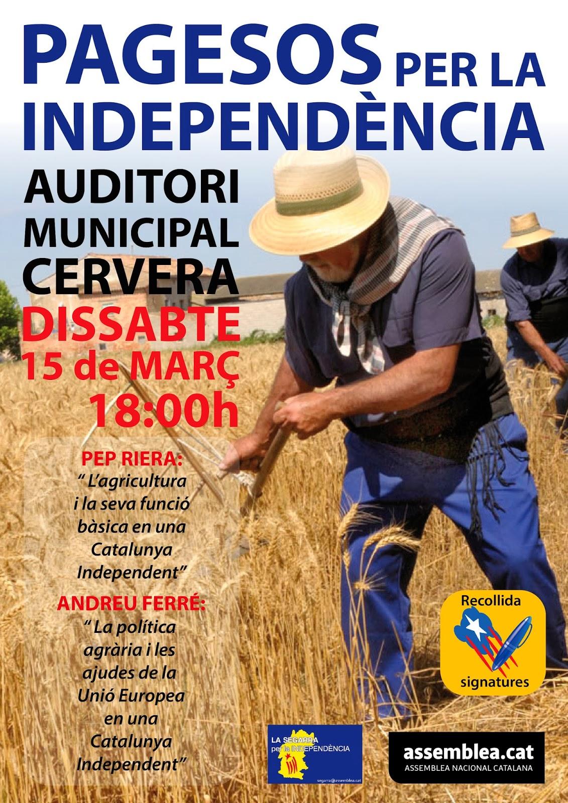 presentació PAGESOS PER LA INDEPENDÈNCIA a la Segarra