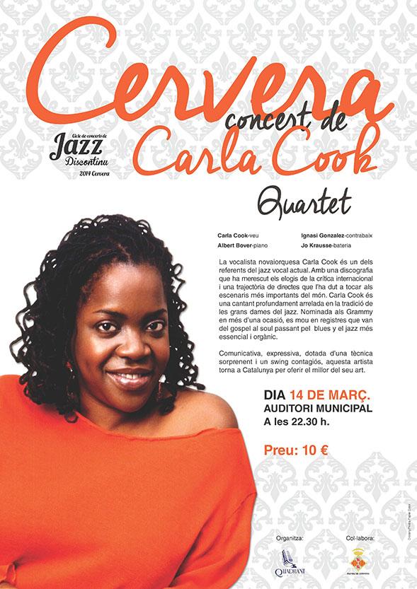 cartell Concert de Carla Cook Quartet