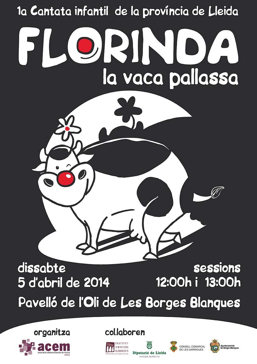 cartell Cantata FLORINDA, La Vaca Pallassa
