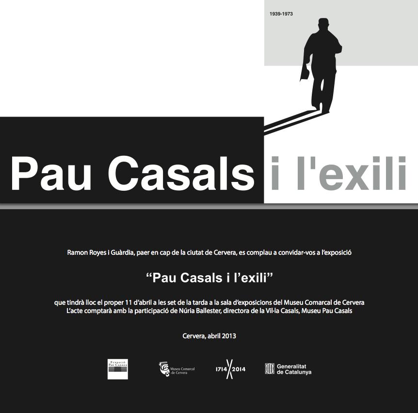 cartell Exposició Pau Casals i l'exili
