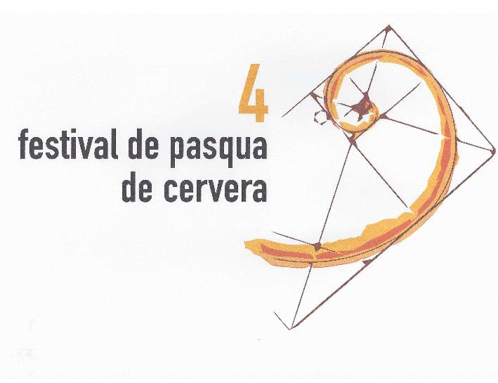 cartell 4t Festival de Pasqua de Cervera