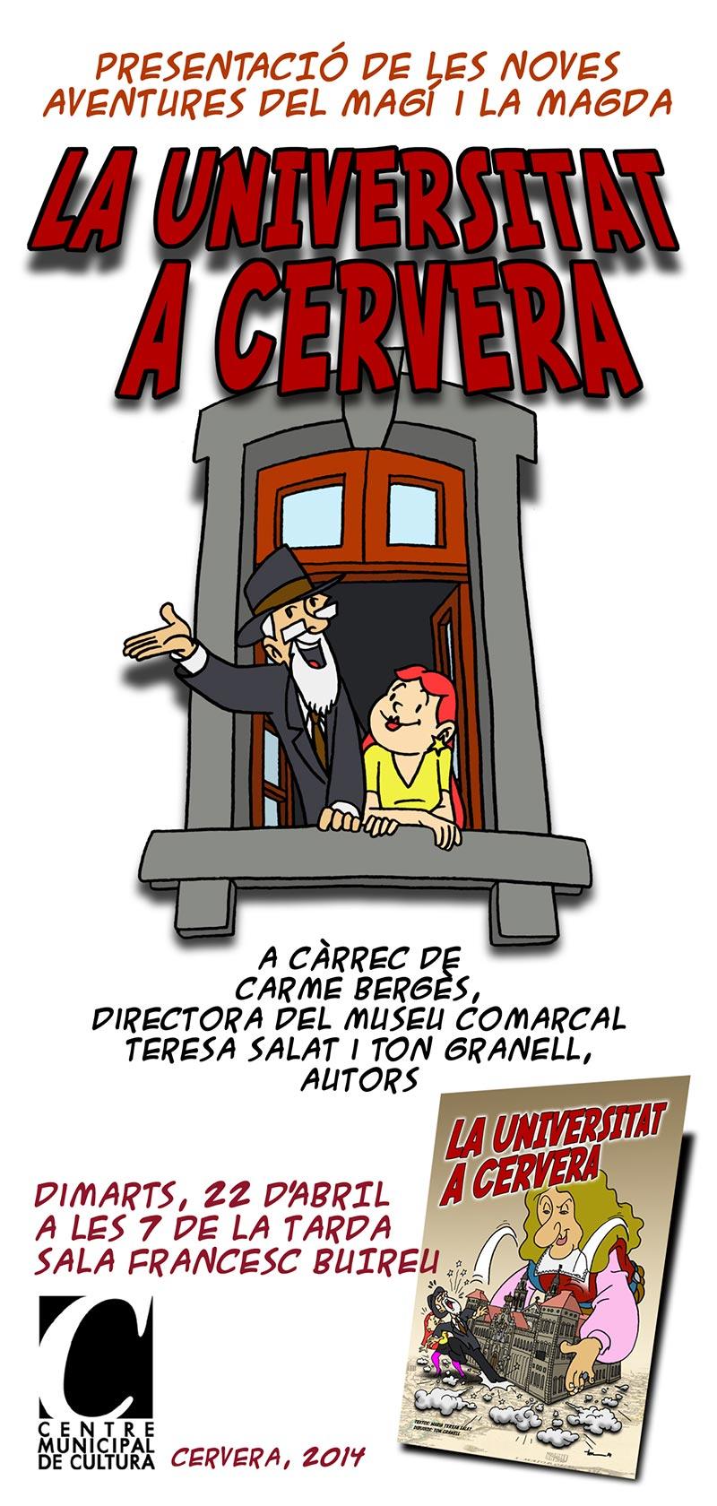 cartell Presentació del còmic La Universitat a Cervera