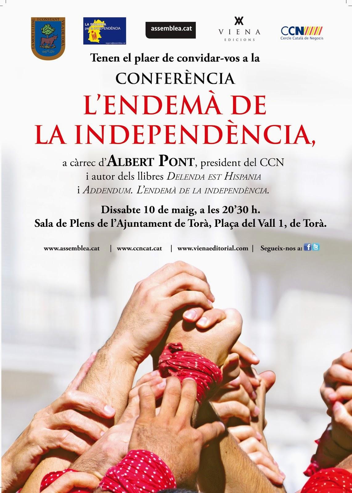 cartell conferència 'L'endemà de la Independència'
