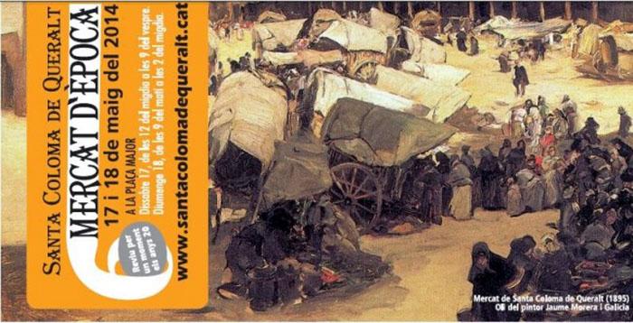cartell 6è Mercat d'època 2014