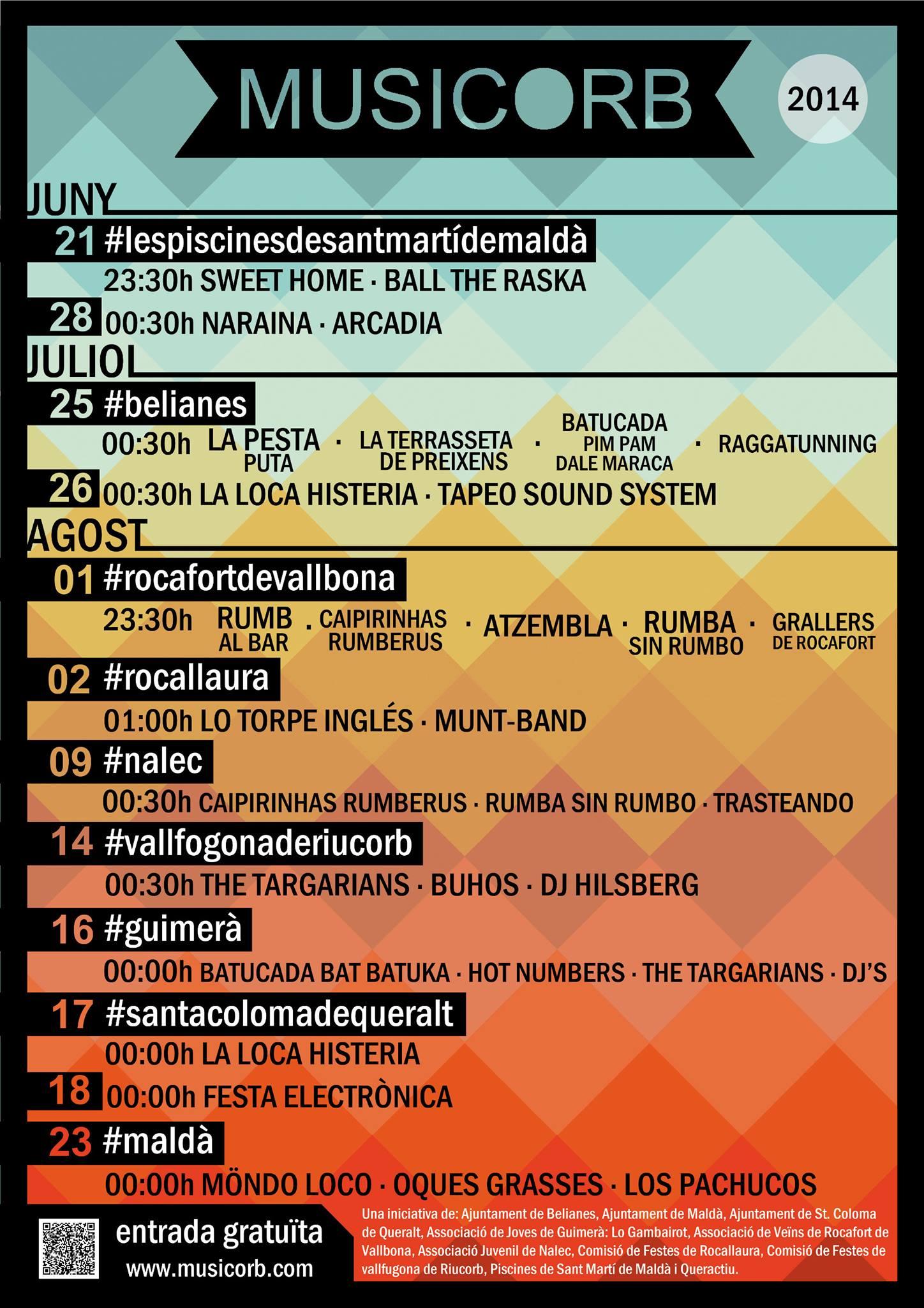cartell Musicorb 2014