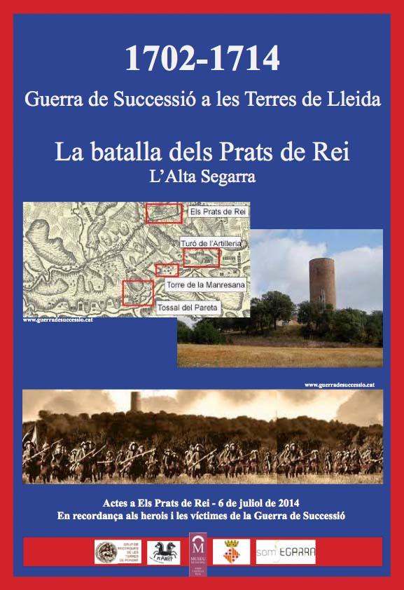 cartell Espais Ponentins de la Guerra de Successió
